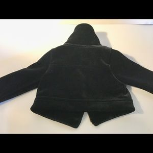 Genuine kids velvet motorcycle jacket